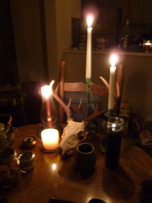 Our altar for crafting and offerings